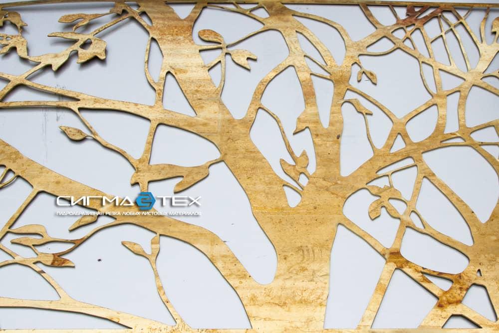Гидроабразивная резка декоративной решетки из латуни